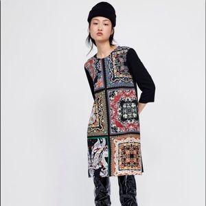 ZARA Printed Stretch Dress